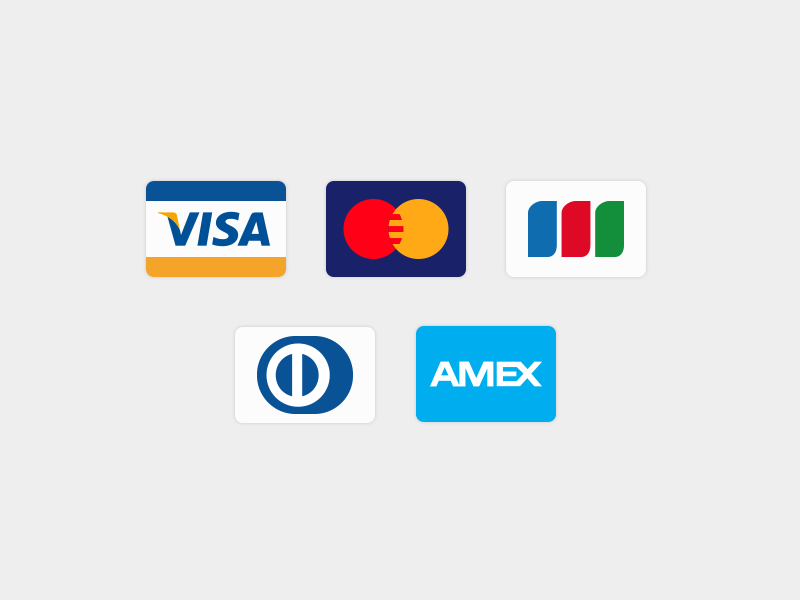 Credit Card visa master jcb dinner club american express icon credit card ai vector