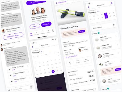 Digital Medication Cabinet health product product design typography flat ui ux medical app health app healthcare design
