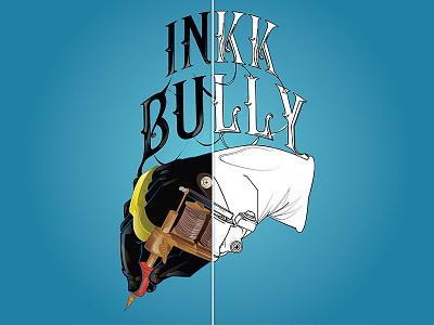 Inkk Bully Branding Illustration. debut app icon typography lettering logo 2d illustration vector design flat