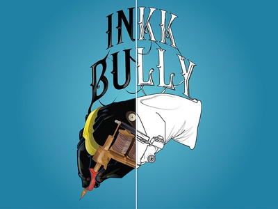 Inkk Bully Branding Illustration. debut app icon typography lettering logo 2d illustration vector design flat