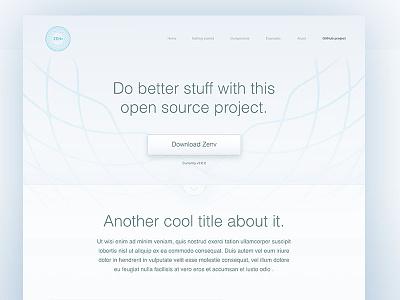 Zenv open source project - Landing page lettering flat type branding app vector icon typography ui design logo illustration