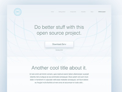 Zenv open source project - Landing page lettering flat type branding app vector icon typography ui design logo illustration