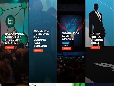 Portfolio website redesign button gradient typography type logo gif ui ux portfolio flat website debut