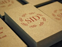 Sid Style letterpress business card