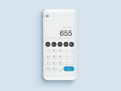 Daily UI Challenge #004 - Calculator ui daily 100 challenge daily challange neumorphism calculator design