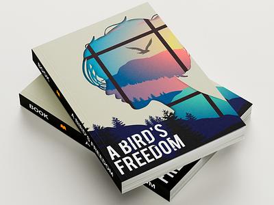 A Bird's Freedom landscape landscape illustration bird illustration vector art book cover design book illustration illustraion book design book art book cover book