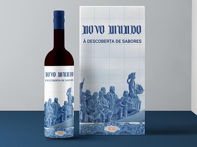 """""""Novo Mundo"""" - Wine Branding traditional portuguese portugues portugal discovery illustraion bottle mockup bottle label bottle design bottle wine design branding"""