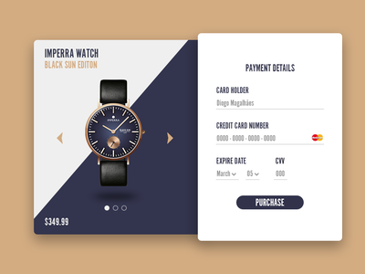 Daily UI Challenge #002 - Credit Card Checkout card desing daily challange daily ui 002 watch credit card checkout