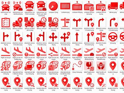 Transportation and logistics icons set. icon design eps svg logistics icons transportation