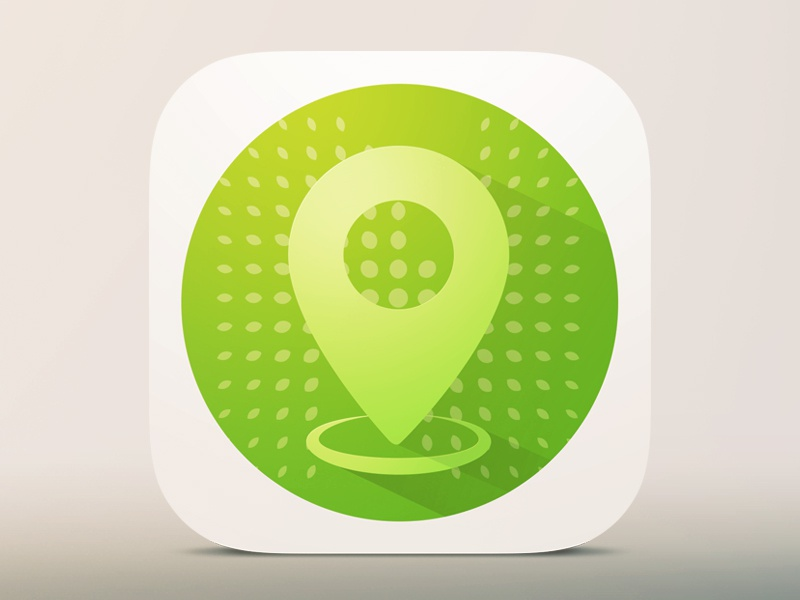 Nasher App Icon app ios 7 icon long shadow flat location design white iphone mobile nasher sculpture