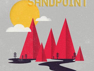 Sandpoint, ID print texture typography wedding idaho minimal