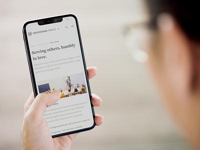 Watermark Website digital case study redesign tv light dark branding mobile church nonprofit web strategy ux ui design website