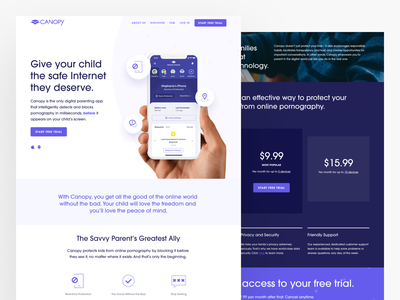 Canopy simple development icons kids parents filter android ios typgraphy minimal web website landing page ux ui app canopy