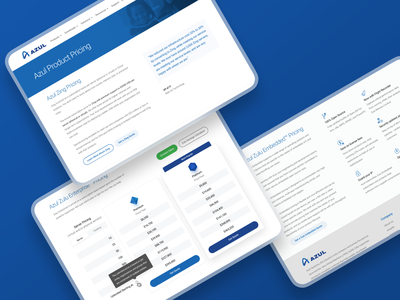 Azul Pricing Page redesign illustration product typography minimal icons azul table design web pricing website