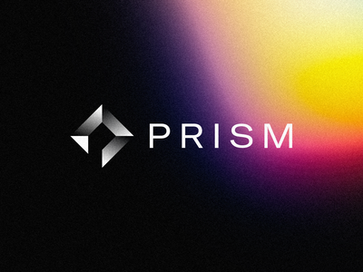 Prism Logo typography minimal clear diamond prism spectrum color concept brand design logotype mark identity logo branding