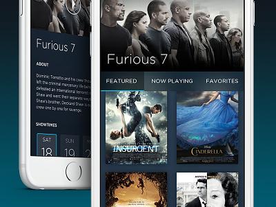 Movie Monster UI ui ios app movies showtimes tickets trailers