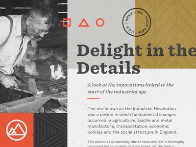 American Made identity texture typography founders grotesk sentinel vintage american detail mood board design brand branding