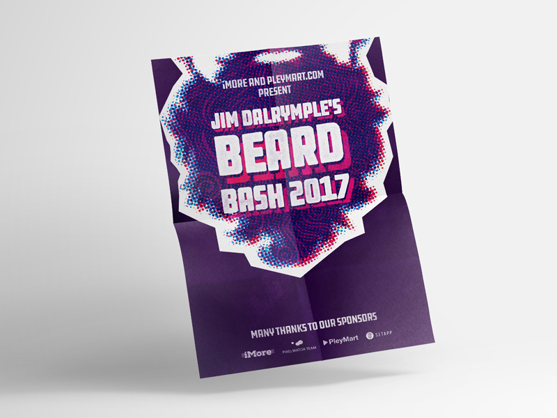 Beard Bash Poster by Ronnie Johnson for Black Pixel on Dribbble