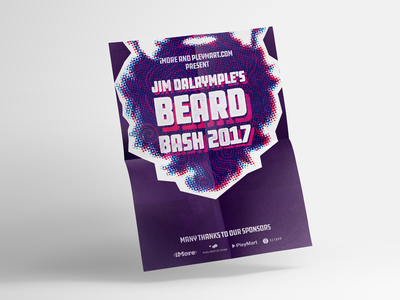 Beard Bash Poster grunge party poster texture typography the loop wwdc print