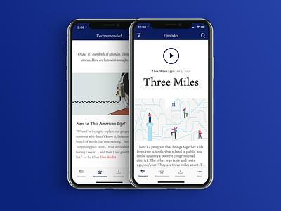 This American Life iOS radio podcast design app ios this american life