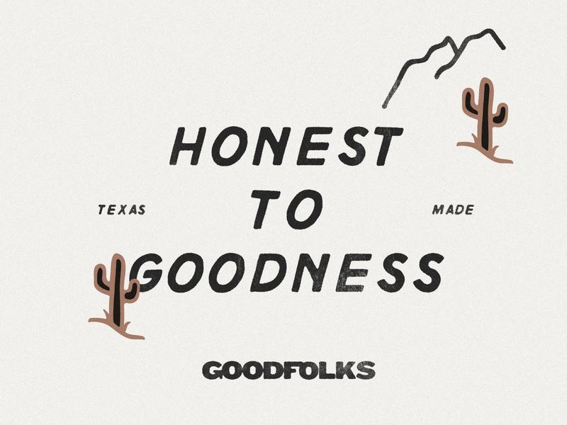 Be Good, Do Good do good be good mountains desert goodfolks design studio illustration branding