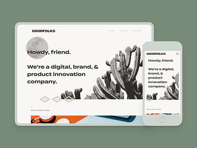 Introducing GOODFOLKS development creative agency studio branding ui web design
