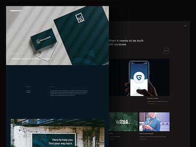 GOODFOLKS Website v2 digital app ios design web update work non-profit identity mark logo branding case study studio portfolio website