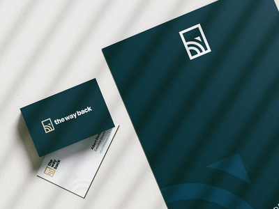 The Way Back Branding collateral print vector typography design direction minimal mark client case study non-profit logo identity brand branding