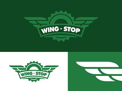 Wingstop Rebrand rebrand web badge minimal restaurant food logo identity branding idea concept brand