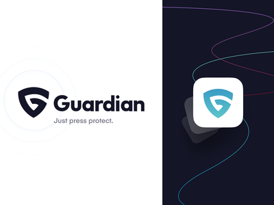 Guardian Branding minimal neon color refresh ios app logo identity branding rebrand