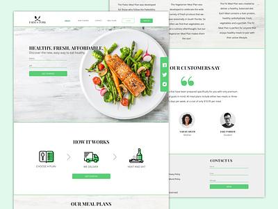Meal Plan Site minimal web ui ux typography site illustration branding logo design