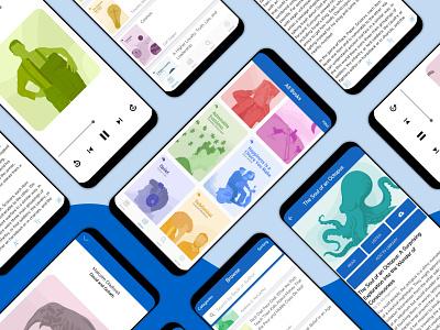 Thinkr Reading App web ux ui site illustration app branding design