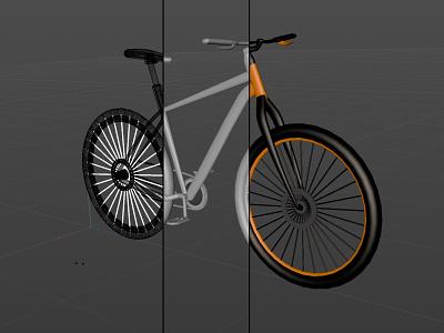 3-D Bike Model cinema 4d bike 3d art illustration