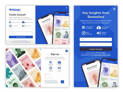 Create Account Pop Ups minimal web ux vector site ui app illustration branding design