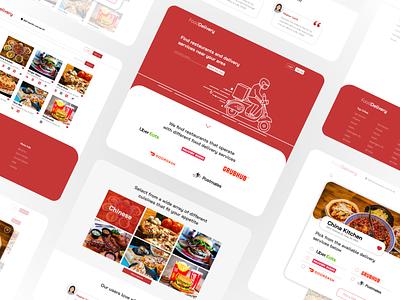Food Delivery Site Concept website web ux site ui illustration branding design