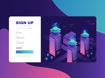 Sign Up Form Competition create account sign in sign up adobe website minimal web ux ui vector branding illustration design