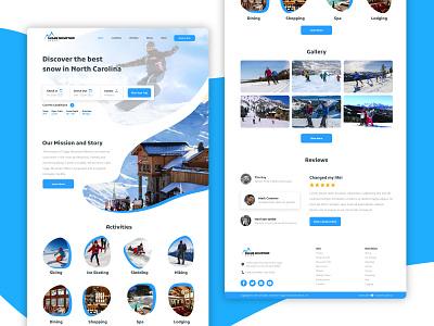 Ski Resort Site website minimal logo web ux site ui branding illustration design