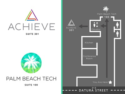 Entryway Signage for Achieve and Palm Beach Tech