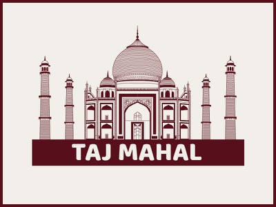 Taj Mahal Illustration monuments l illustration taj maha india