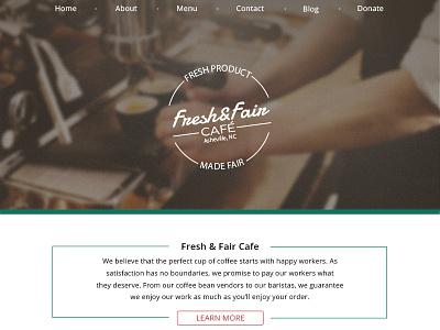 Fresh&Fair Homepage Design site homepage cafe