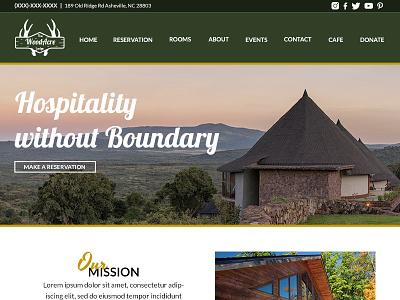 WoodAcre Homepage Design lodge website site outdoors