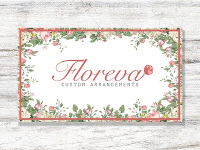 Floreva Card business cards design floral arrangements