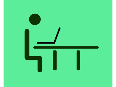 Desk job icon job desk vector simple 100daysofillustrations