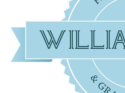 Willia Seal peek identity blue seal banner logo