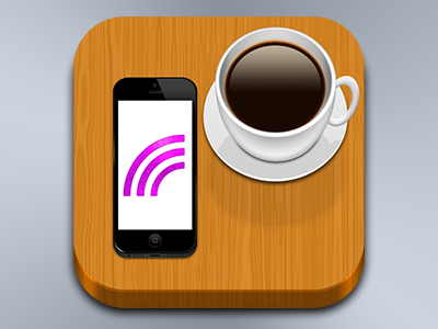 Free Wi-Fi Café ios iphone cafe coffee table wifi wlan icon freewave