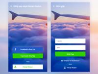 Login - Register for Mobile App