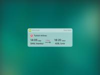 flight widget for IOS