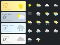 Daily UI —Weather card & icons
