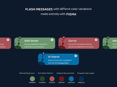 Flash Messages DailyUi#011 ux dailyui011 dailyui daily ui design web design ui figma