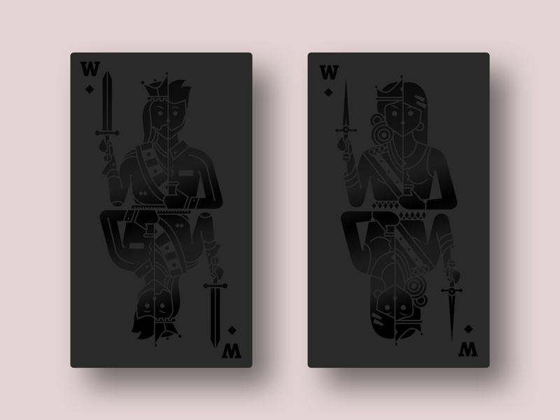King and Queen - Business Card Back Artwork
